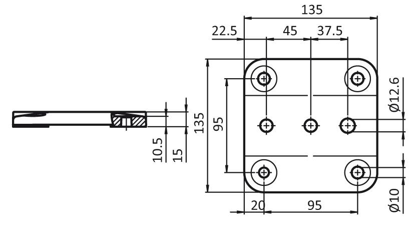 Foot Plate 45 / 60 / 90 - 135 2D