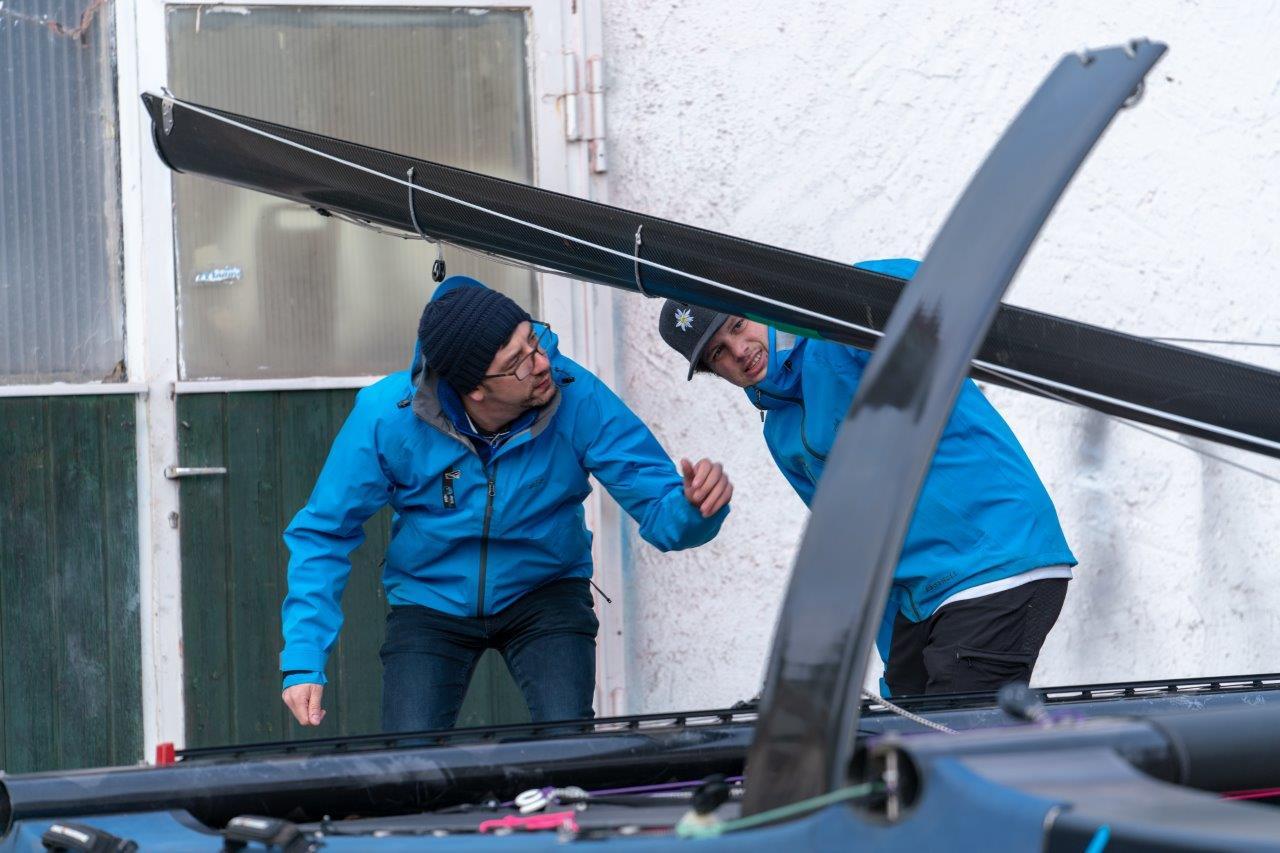 FATH Sailing Team checks the sports equipment